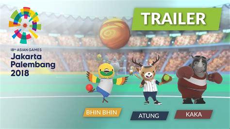 Ghamis Astika asian jakarta palembang 2018 logo and mascots