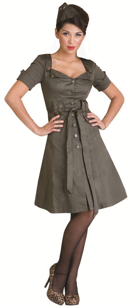 army dress pin up army dress retro vintage