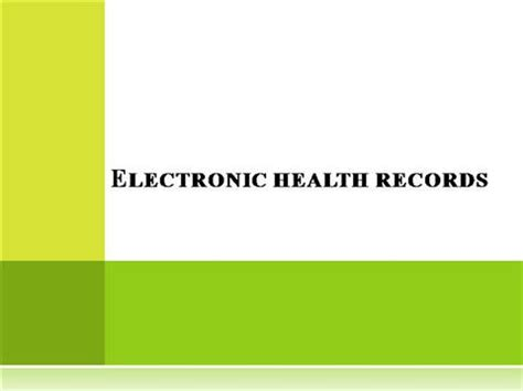 Electronic Health Records Ppt Authorstream Ehr Powerpoint Templates