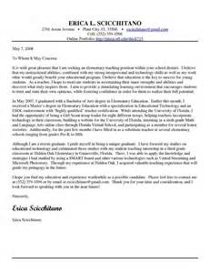 Elementary Teaching Cover Letter – Elementary School Teacher Cover Letter