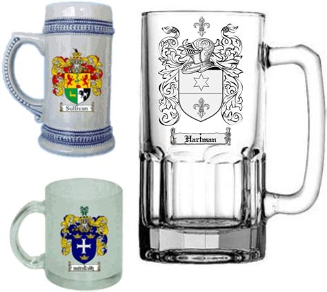 barware store coat of arms glassware