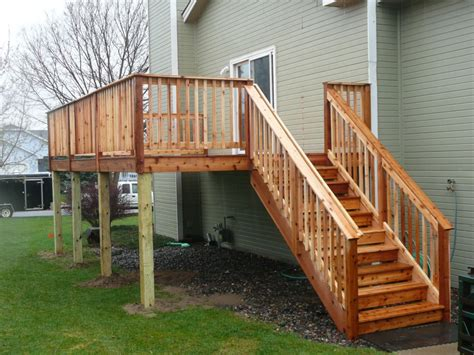 Small Stair Railing Deck Stair Railing Small Railing Stairs And Kitchen