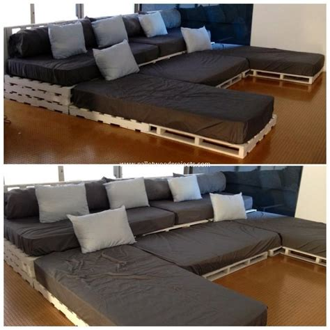 U Shaped Pallet Sofa Ideas Pallet Wood Projects Pallet Sectional Sofa