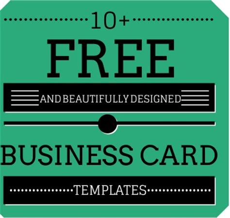 Free Photo Card Templates 2014 by 10 Beautifully Designed Free Small Business Card Templates