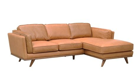 Las Vegas Aria Sofa Chaise Charme Russet Leather Las