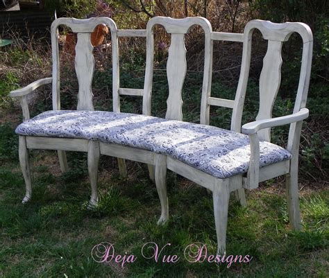 bench from chairs triple sitter chair upcycle