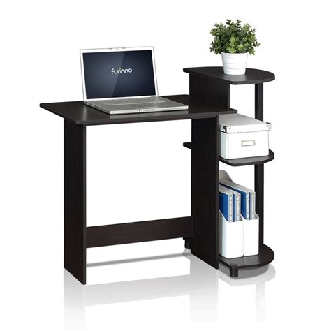 Black Small Computer Desk Furinno Compact Espresso Black Computer Desk 11181ex Bk The Home Depot