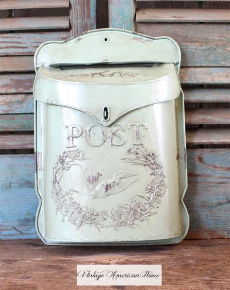 creative co op charming vintage style metal mailbox aqua