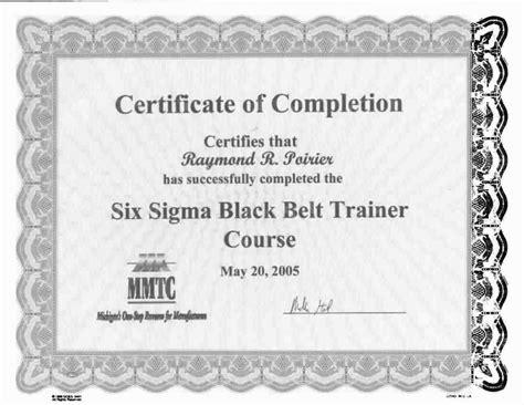black belt certificate template 28 six sigma black belt certificate template lean six