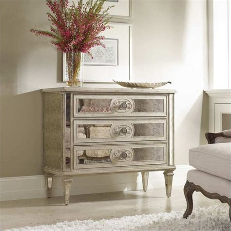 furniture sutherland three drawer antique mirrored