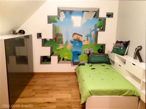 Minecraft Wall Murals chambre deco decoration chambre theme jeux video