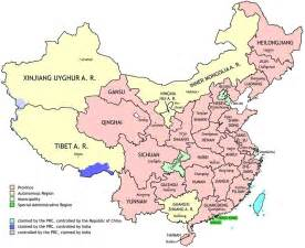 China Province Map by Exploring Chinese History Interactive Map Of China S