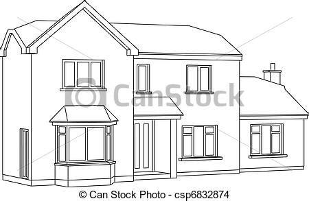 prospettiva casa vettore eps di prospettiva casa 224 3d due punto