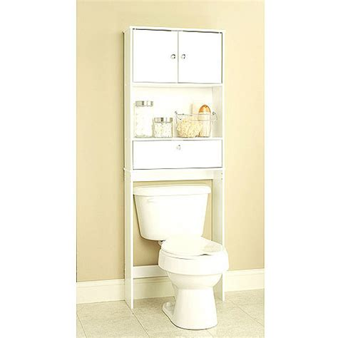 Walmart Cabinets Bathroom by White Spacesaver With Cabinet And Drop Door Walmart