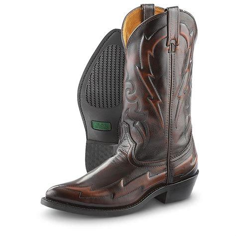 s laredo 174 lightning bolt pull on boots burnished