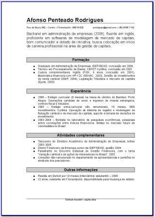 Modelo Curriculum España 2018 Modelos Curriculo 2018 Dicas Femininas 2018