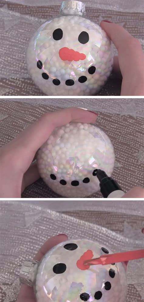 toddler ornament craft easy snowman ornament diy crafts for toddlers