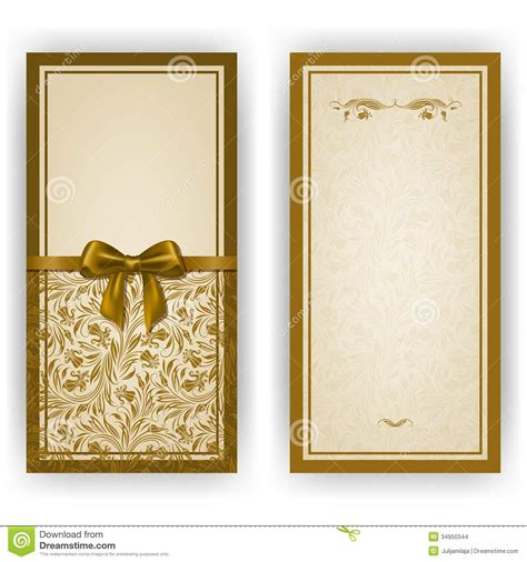 elegant vector template for luxury invitation stock photo
