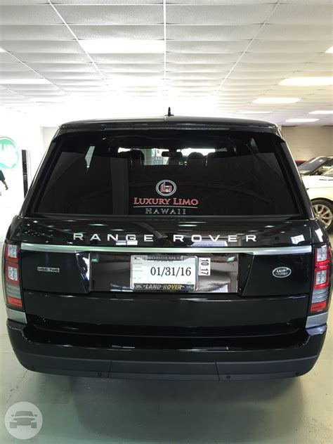 Range Rover Hawaii by Range Rover Suv Luxury Limo Hawaii Reservation