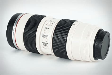 Mug Lensa White Canon Lens Mug Bahan Stainless Steel Ya white canon lens mug
