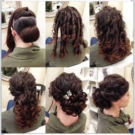 curly hair updos step by step elegant updo hairstyle in only 6 steps b g fashion