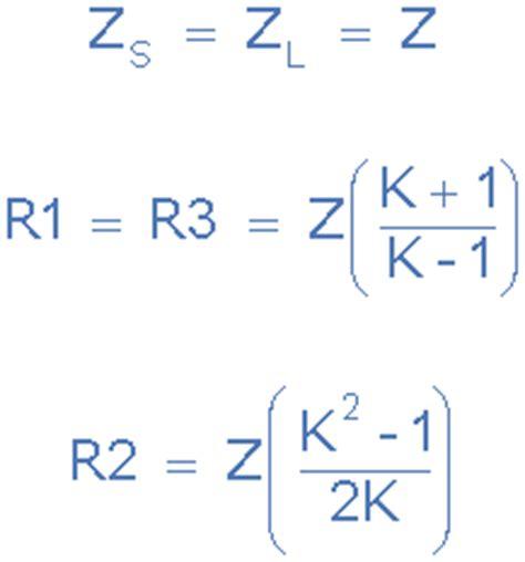 resistor values for attenuator pi pad attenuator tutorial for passive attenuators