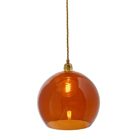 Coloured Glass Ceiling Lights Transparent Glass Hanging Ceiling Pendant Light On Braided Cable