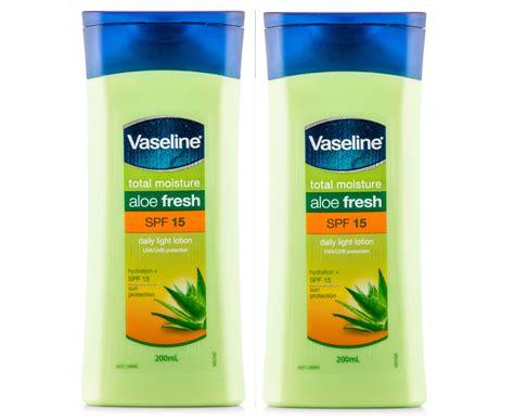 Vaseline Total Moisture Aloe Vera Fresh Lotion 200ml 2 x vaseline total moisture aloe fresh spf15 daily light