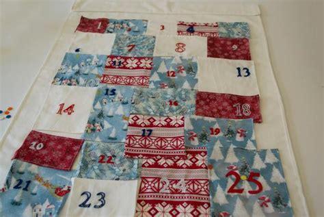Patchwork Advent Calendar - how to make a fabric advent calendar diy