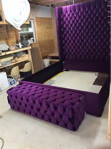 wingback tufted bed king size size size wing back