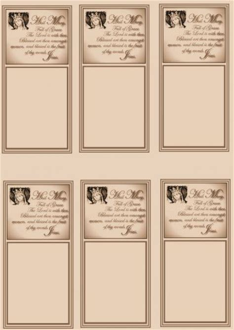 Prayer Card Sheets Bringing Catholics And Non Catholics Together Free Prayer Card Template