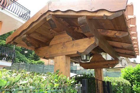 tettoie per cancelli coperture in legno per cancelli roma castelli romani