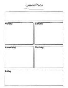 Basic Lesson Plan Template this is a basic lesson plan template for preschool or one