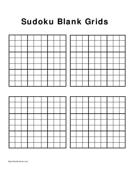 printable sudoku   page blank printable sudoku