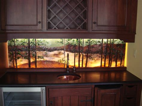 led back splash wet bar backlit backsplash