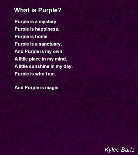 poems about the color purple book what is purple poem by kylee bartz poem