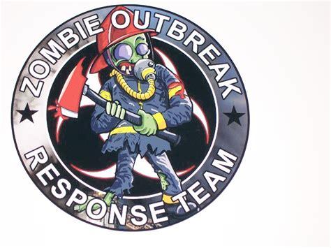 Outbreak Team 8 quot x 8 quot outbreak response team 2 vinyl decal sticker