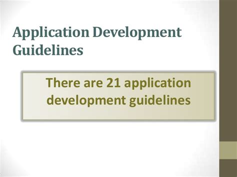 application design guidelines gui application development guidelines