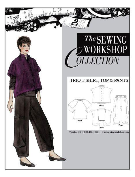sewing workshop trio t shirt top pants sewing workshop trio t shirt top pants sewing pattern