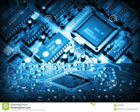 new integrated circuit technology futuristic integrated circuit stock image image 36338811
