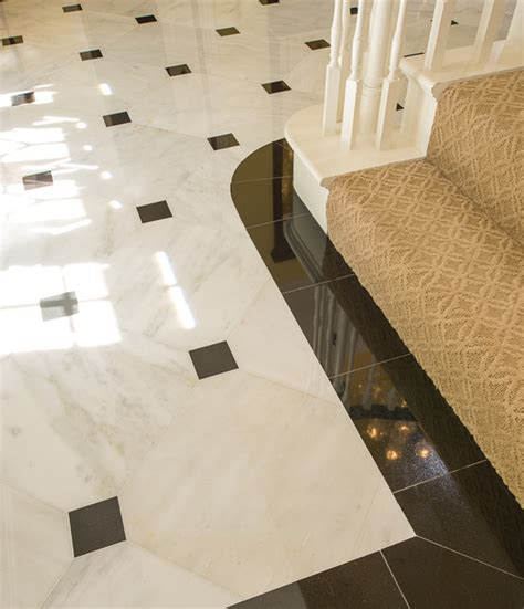 marble foyer traditional dallas  american tile stone