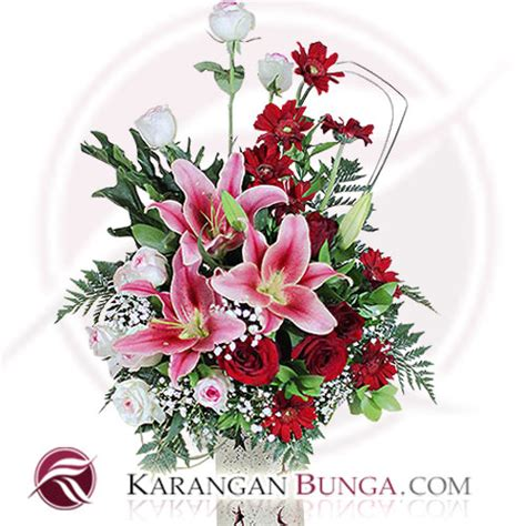 Bunga Artificial Mawar Sutera toko karangan bunga papan meja steek werk di kota
