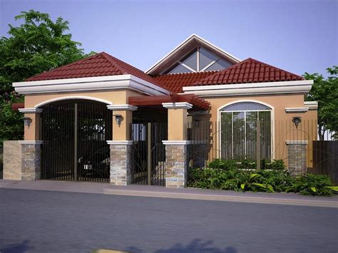 House Plans Designers Home Design Modern One Storey House Bedroom Philippines Bungalow Modern One Storey Modern House