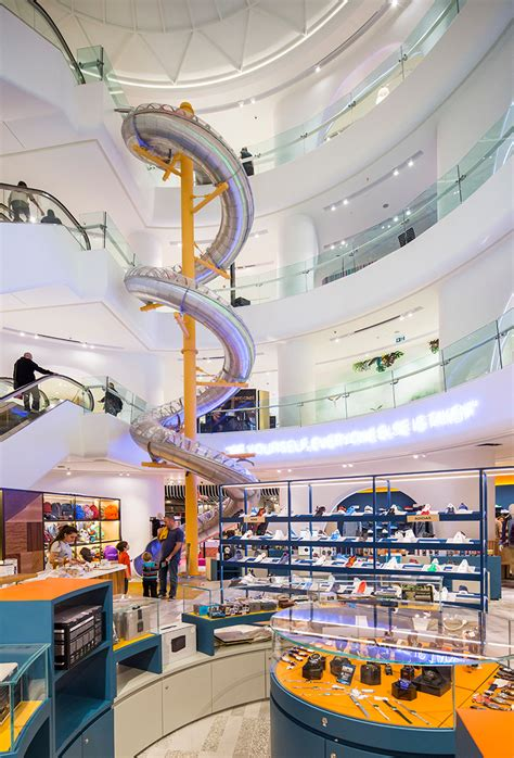 gad architecture installs spiral   istanbul mall