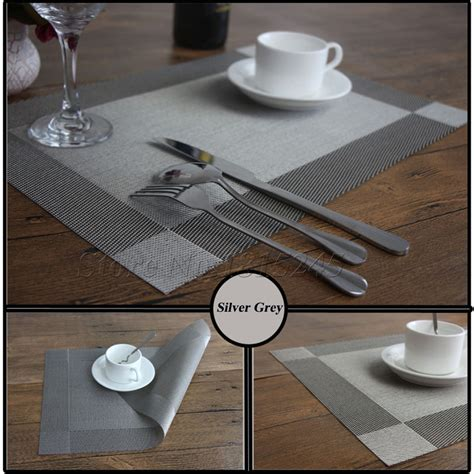 dining room table placemats pvc heat insulation stain set of 4 pvc dining room place mats for table heat