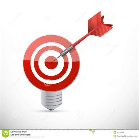 Light Target by Target Idea Light Bulb Illustration Design Stock Images Image 33729564