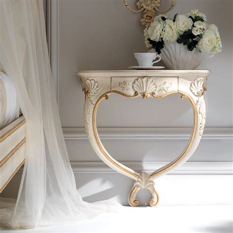 wall mounted end table high end ornate wall mounted bedside table
