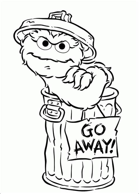 free coloring pages of baby oscar grouch