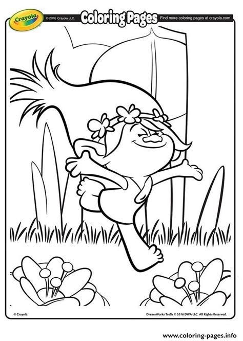 poppy trolls coloring pages printable