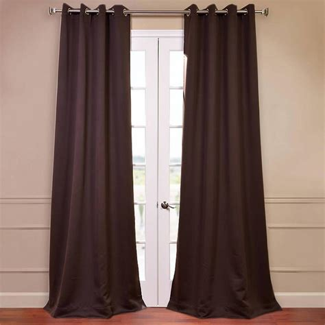 Brown Grommet Curtains Exclusive Fabrics Furnishings Java Brown Grommet Blackout Curtain 50 In W X 108 In L Pair
